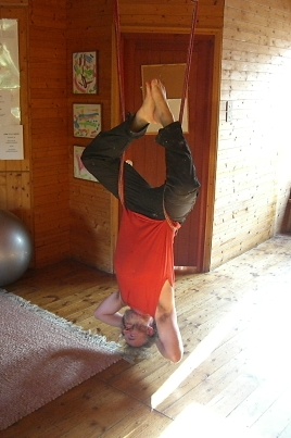 Back release in the yoga chalet.