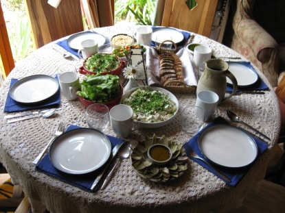 Fresh, organic meals and home-made bread.