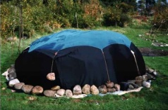 Completed sweat lodge.